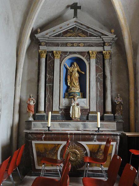 Froville (M-et-M) Prieuré, église, autel A