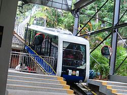 Funicular to the top of the Penang Hill, Georgetown, Penang, Malaysia.JPG