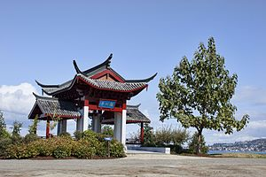 Chinatown, Tacoma - Fuzhou Ting at Chinese Reconciliation Park
