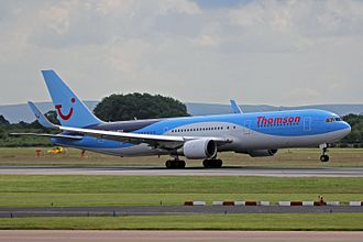 "TUI Airways - 767-300ER in the former Thomson branded ""Dynamic Wave"" livery"