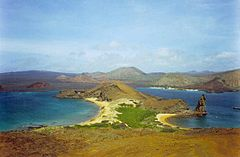 Site No. 1: The Galápagos Islands, an example of a World Heritage Site whose boundaries were extended (in 2001 and 2003), and was included on the danger list from (2007 to 2010)
