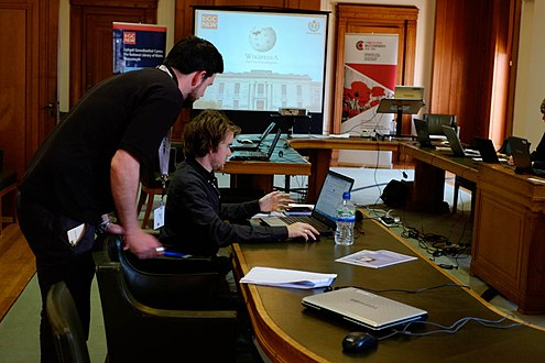 Gallipoli Edit-a-thon, National Library of Wales1.jpg
