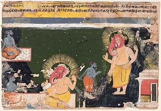 Vyasa - Ganesa writing the Mahabharat