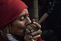 Ganja Smoking - Gangasagar Fair Transit Camp - Kolkata 2013-01-12 2642.JPG
