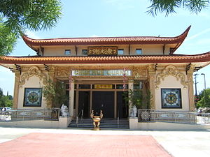 Buddhism in the United States - Chùa Huệ Quang Buddhist Temple, a Vietnamese American temple in Garden Grove