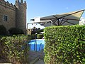 Gardens and swimming pool, Castle of Zafra 22 July 2016.JPG