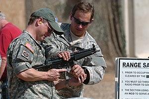 English: Balad, Iraq - Gary Sinise, from the m...