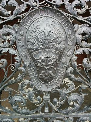 Anne Clough - Detail on Memorial gates at the college