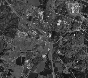 Mountain View Unit - Aerial photograph of the prisons in Gatesville, January 13, 1996, United States Geological Survey