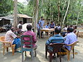 Gathering in a meeting of villagers in an Bangladeshi village 2015 08.jpg