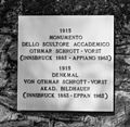 Gedenkpaneel. Locatie, Kerk van San Rocco met daaromheen de militaire begraafplaats in Peio Paese 13.jpg