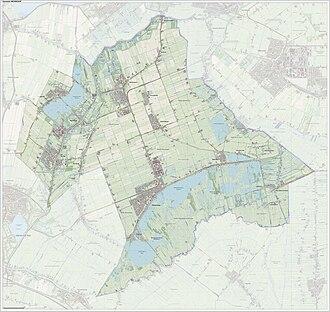 Nieuwkoop - Dutch Topographic map of Nieuwkoop, June 2015