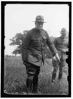 Bluff War - General Hugh L. Scott at Camp Dix, New Jersey in 1918.