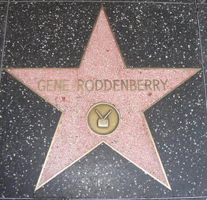 Legacy of Gene Roddenberry - Roddenberry's star on the Hollywood Walk of Fame.