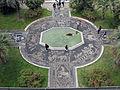 Genova, palazzo reale, giardini con vialetti mosaicati dal monastero di castelletto.JPG