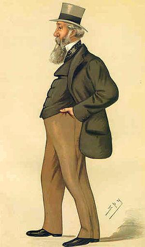 """George Armitstead, 1st Baron Armitstead - """"Spy""""'s caricature of George Armitstead, published in Vanity Fair 1882"""