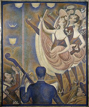 Can-can - Georges Seurat, 1889-90, Le Chahut, oil on canvas, 170 x 141 cm, Kröller-Müller Museum