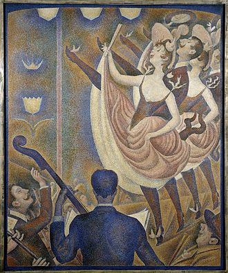 Can-can - Georges Seurat, 1889–90, Le Chahut, oil on canvas, 170 × 141 cm, Kröller-Müller Museum