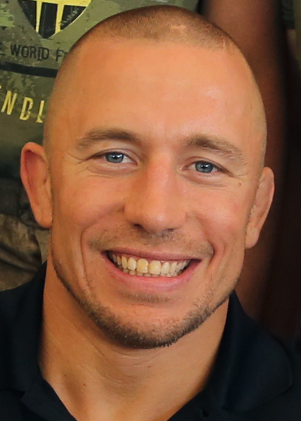 File:Georges St-Pierre.png Description English: Georges St-Pierre, mixed martial artist and UFC world champion, meets Marine volunteers and runners at the 22nd World Famous Mud Run on Camp Pendleton June 8. St-Pierre took photos and signed autographs for Mud Run racers and service members during the visit (cropped).