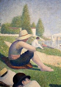 Georges seurat, bagnanti ad asnières, 1884, 02