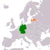 Lage von Deutschland und Lettland