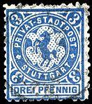 Germany Stuttgart 1890-99 local stamp 3pf - 14b used.jpg