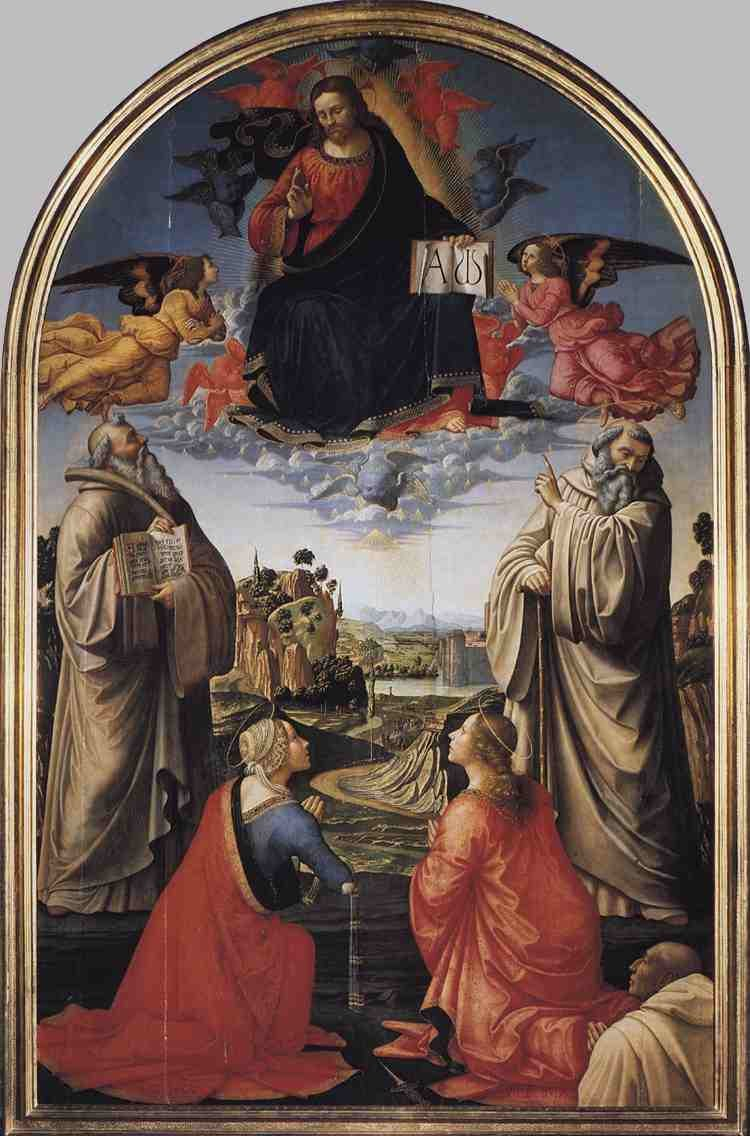 Ghirlandaio Christ in Heaven with Four Saints and a Donor