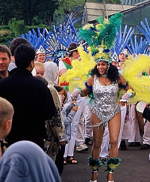 West End Festival - Dancer at the 2002 parade