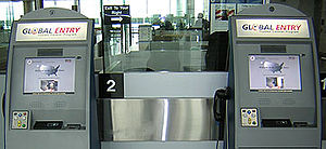 Customs declaration - U.S. Global Entry Kiosks, that can make a Customs declaration for the traveler.