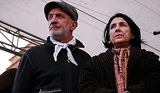 Salome Zourabichvili - Zourabichvili with opposition leader Goga Khaindrava in 2009