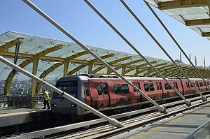 M2 (Istanbul Metro) - Image: Golden Horn Metro Bridge 02