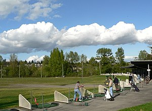 Driving range - Driving range with 43 tees (20 covered) at the University of Washington