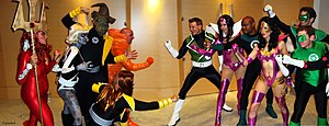 English: Cosplay: Sinestro Corps, Larflize, Re...