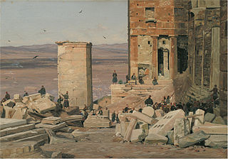 Greeks Working in the ruins of the Acropolis