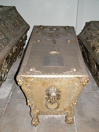 Maria Leopoldine of Austria - Maria Leopoldine's coffin at the Imperial Crypt, Vienna.