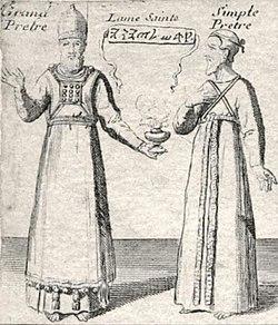 Grand Pretre. Simple Pretre. Carte du voïage des Israëlites. xviie siècle.JPG