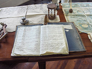 Logbook aboard the frigate Grand Turk.