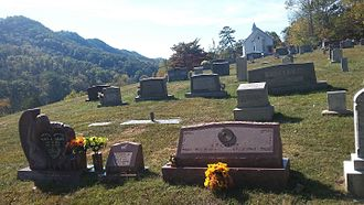 A. P. Carter - Grave of A.P. Carter at Mount Vernon United Methodist Church at Maces Springs, Virginia, now Hiltons, Virginia