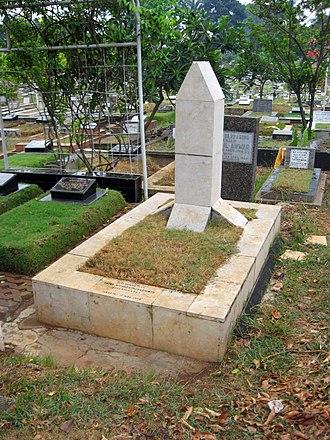 Chairil Anwar - Anwar's grave in Karet Bivak