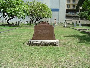Honolulu Catholic Cemetery - Mass grave of early Sacred Hearts Missionaries