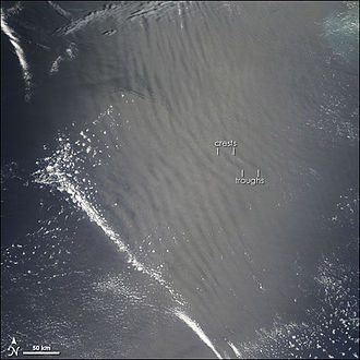 Gravity wave - Atmospheric gravity waves as seen from space.