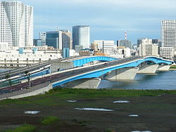 Great Harumi Bridge in Kōtō