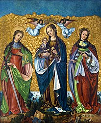 anonymous: Mary and Child with Saints Felicity and Perpetua (Sacred Conversation)
