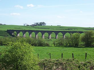 Lanarkshire and Ayrshire Railway - The Gree Viaduct in 2007 (now demolished), on the former line between Newton and Giffen