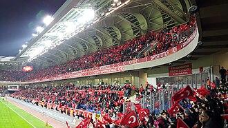 Başakşehir Fatih Terim Stadium - Image: Greece vs Turkey (0 3), 17 November 2015, 2