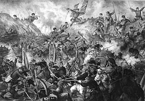Military history of Romania - Romanian troops taking Grivica Strongpoint during the Russo-Turkish War of 1877–1878