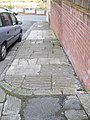Grooved paving stones on a steep stretch of Welford St, Barry - geograph.org.uk - 2321903.jpg
