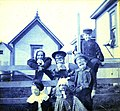 Group of children posed on a fence, Seattle, Washington, November 1897 (KIEHL 207).jpeg
