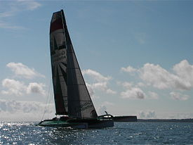 Groupama 3 under sails, South Britanny, front side view.jpg