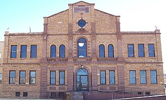 Guadalupe County, New Mexico - The older section of Guadalupe County Courthouse, which was built in 1909, adjoins the newer section.